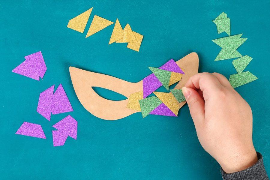 Máscara de carnaval para o rosto